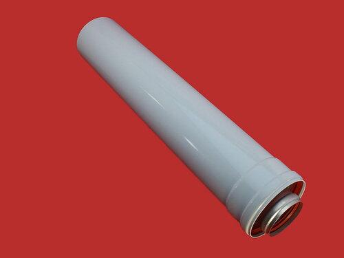 Купить Коаксиальный удлинитель дымохода для турбо котлов (ф60/100) 0,5 метра (500mm) A005 384 грн., фото