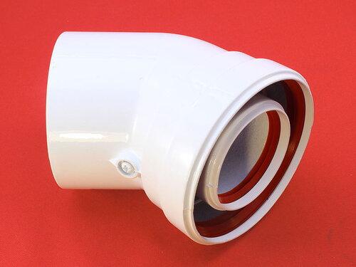 Купить Колено соединительное коаксиального дымохода 45° ф60/100 434 грн., фото