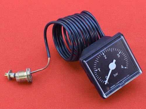 Купить Манометр квадратный 45х45 мм на 4 бара, резьба 1/4G 281 грн., фото