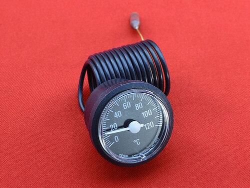 Купить Термометр газовых котлов Ø37 мм, 0-120°С, капилляр 1000 мм 244 грн., фото