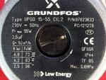 Купить Насос Grundfos UPS 15-55 для газового котла — три скорости, 72W ➣ P max 95W 2 025 грн., фото