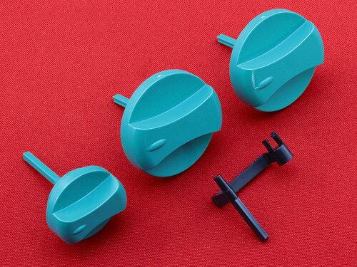 Купить Ручки управления Vaillant ATMOmax, TURBOmax Pro / Plus (три ручки в комплекте зеленого цвета) артикул 114286 488 грн., фото