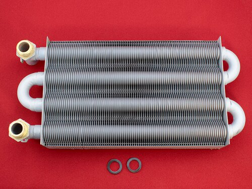 Купить Теплообменник котлов Eurotherm Колви Thermona, Hermann (с отверстием под автоматический воздухоотводчик) 3 240 грн., фото