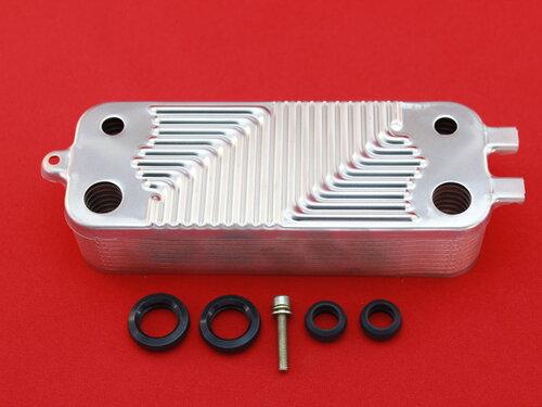 Купить Теплообменник вторичный котлов Junkers Bosch 18 пластин 4 331 грн., фото
