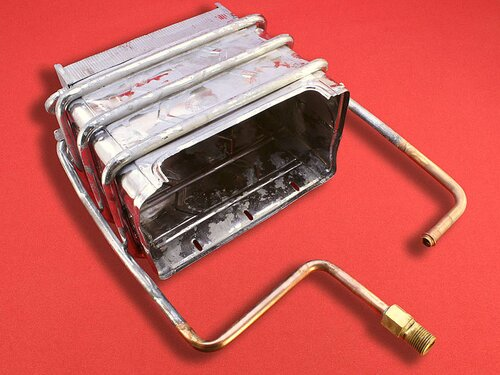 Купить Теплообменник для газовой колонки Termaxi, Selena, Крауф Хейзен, Vektor, Нева-Транзит ➣ подсоединение фланец 1 931 грн., фото