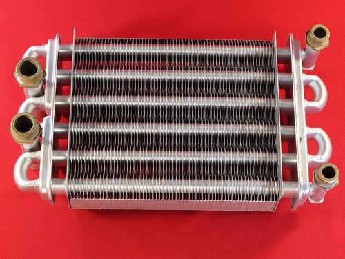 Купить Битермический теплообменник Altogas, Nobel, Maxi Boilers, Rocterm 210 мм (глухие патрубки) 3 813 грн., фото