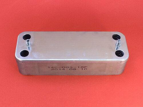 Купить Теплообменник на горячую воду котлов Protherm, Demrad, Ariston (18 пластин) 1 556 грн., фото