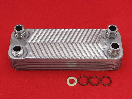 Купить Теплообменник на горячую воду котлов Vaillant Turbomax, Atmomax Pro - Plus (длина 207 мм) 14 пластин 2 898 грн., фото