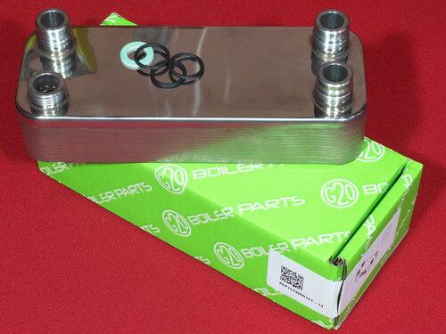 Купить Теплообменник вторичный Vaillant Atmomax, Turbomax Pro | Plus 14 пластин 1 536 грн., фото