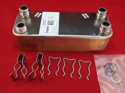 Купить Теплообменник пластинчатый котлов Vaillant 28-36 кВт на 20 пластин 3 508 грн., фото