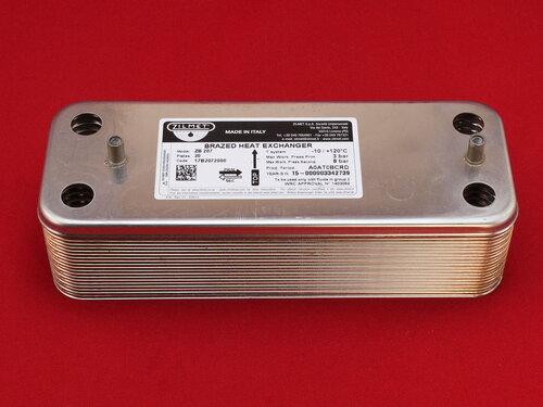Купить Теплообменник Baxi Westen вторичный на ГВС Zilmet 17B2072000 20 пластин. Весь модельный ряд 2 387 грн., фото