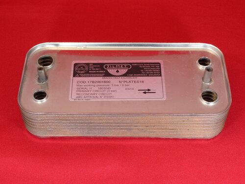 Купить Теплообменник гвс Immergas Major kw, Superior 16 пластин 2 336 грн., фото