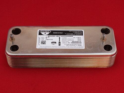 Купить Теплообменник вторичный котла Junkers, Bosch на 14 пластин 2 080 грн., фото