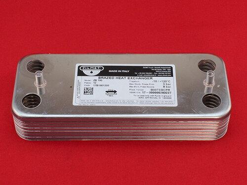Купить Универсальный вторичный теплообменник для газовых котлов на 12 пластин 966 грн., фото
