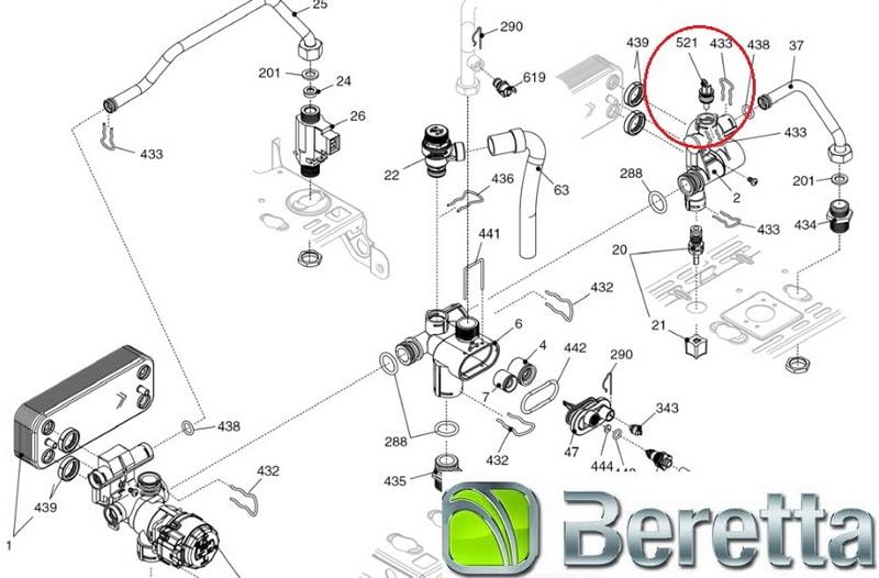 Схема котла Beretta