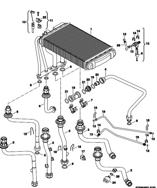 Теплообменник Bosch, Junkers