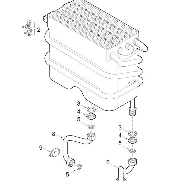 Теплообменник Junkers Ceraclass, Bosch Gaz 3000W 30 кВт
